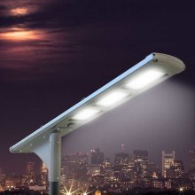 Solar Street Light 72 LEDs 5K LM Extra Battery Motion Detector FULL MOON