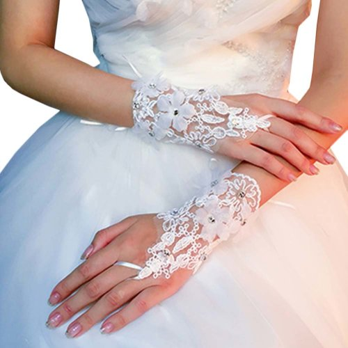 Bridal Wedding Gloves Party Dress Lace Short Gloves B05