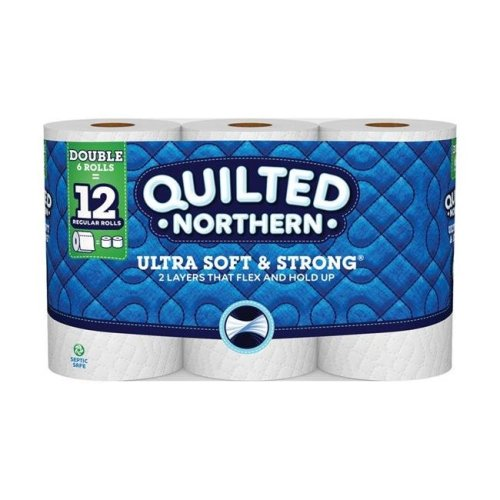 Quilted Northern 6692982 6 Roll 164 Sheet Toilet Paper, 109.33 sq ft. - Pack of 10