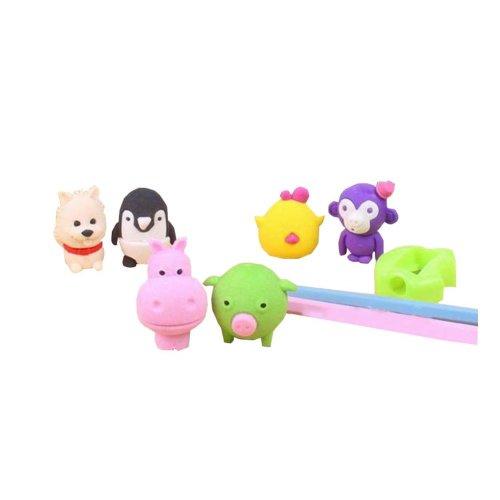 A Set of Erasers/Pencil/Sharpener Cute Animal Eraser for Office/School