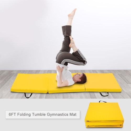 6FT Fold Tumble Gymnastics Mat 5cm Thick Yoga Exercise