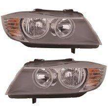 Bmw 3 Series E90 2008-2012 Headlight Headlamps 1 Pair O/s & N/s