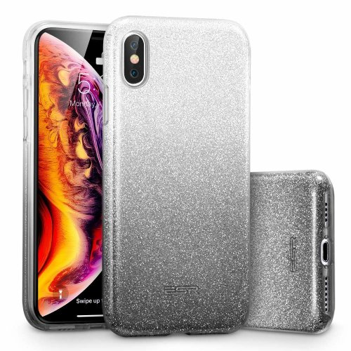 meet 6e174 76e58 ESR iPhone XS Max Case, Glitter Sparkle Bling Case [Three Layer] [Supports  Wireless Charging] Compatible for the 2018 Apple iPhone XS Max 6.5 Inch...