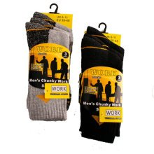 MENS WORK SOCKS THERMAL.chunky, hard wearing and durable 6 PAIRS