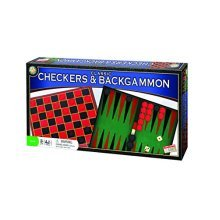 Classic Checkers and Backgammon Board Game