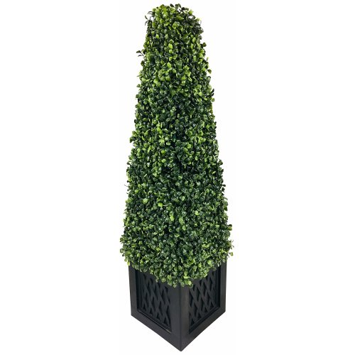 Artificial 81cm Boxwood Tower Plant Tree Potted Realistic Foliage