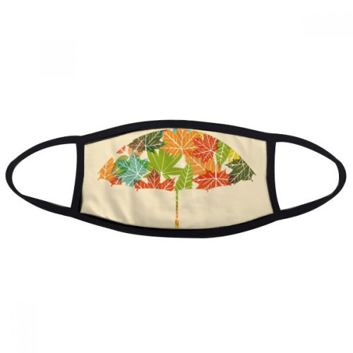 Leaves Umbrella Drip Weather Rain Mouth Face Anti-dust Mask Anti Cold Warm Washable Cotton Gift