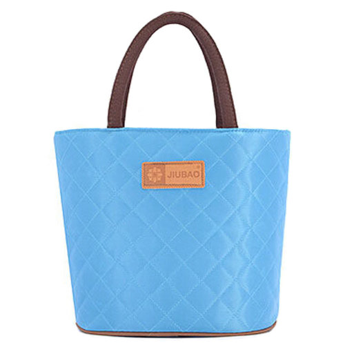 Multi-purpose Traveling Camping Working Lunch Bag Lunch Tote Bag Rhombus,Blue