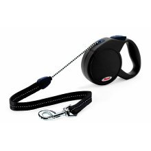 Flexi New Classic, Cord Leash, M: 5 M, Black - Classic Retractable Lead Medium - Flexi Classic Retractable Cord Lead Medium Black Dog Walking Dogs