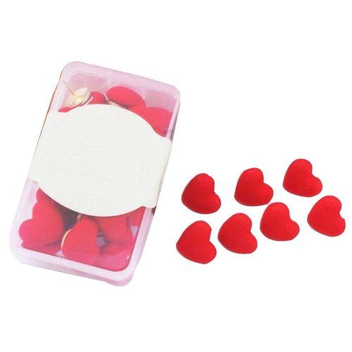 30 Pcs Creative Pushpin Push Pin Thumbtack Office Supplies, Red cloth
