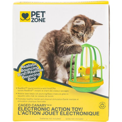 Pet Zone Electronic Action Toy-Caged Canary