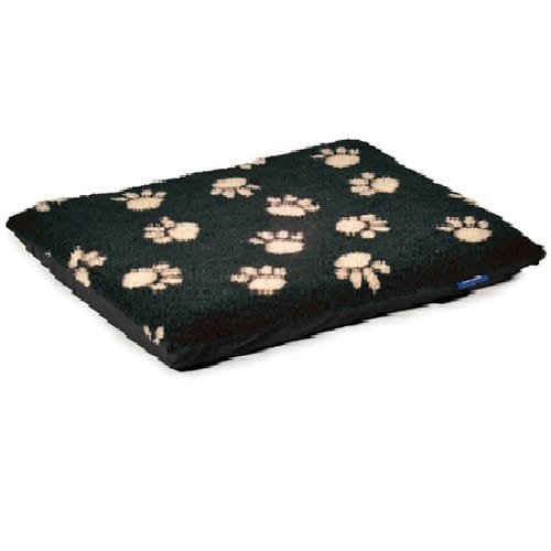 Ancol Paw Flat Pad - Cream Footprint on Black Pad