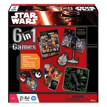 6-in-1 Star Wars Board Game | Kids' Star Wars Game Set