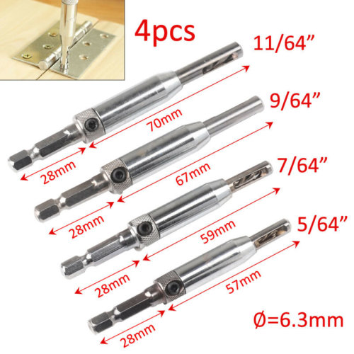 Door Lock Hinge Drill Bit Set Self Centering Hinge Drill Bit For Wood Plastic UK