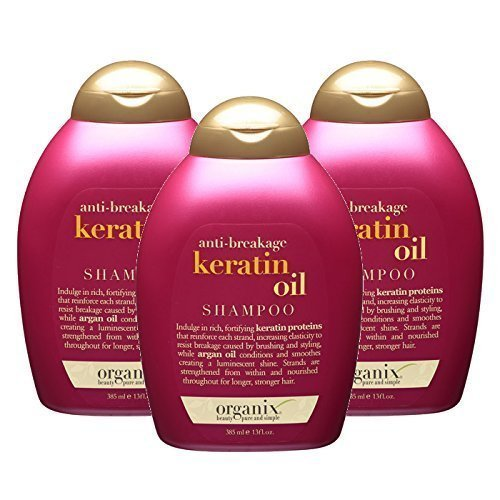 OGX Anti-Breakage Kerating Oil Shampoo 13 Ounce (Set of 3)