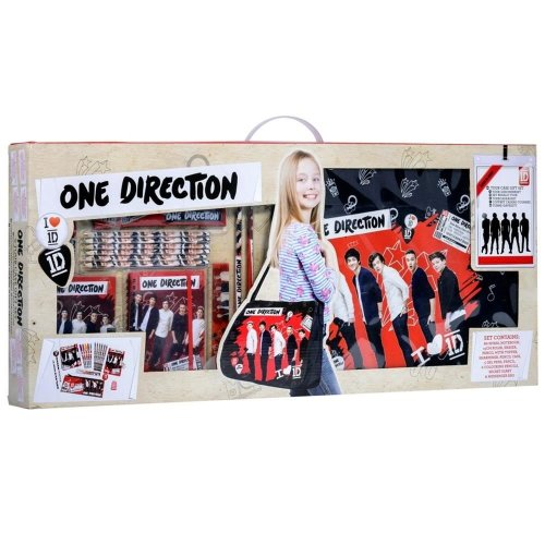 ONE DIRECTION SCHOOL BAG PENCIL STATIONARY SET 1D STATIONERY TOUR CASE XMAS GIFT