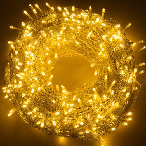 Quntis Led String Lights 100m 500led Ce Standard Wire Warm White Lamp Plug In Safe Low Voltage Copper Indoor Outdoor Fairy Lighting For