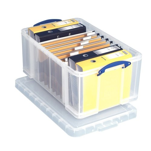 Really Useful Clear Plastic Storage Box 64 Litre