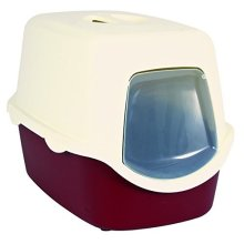 Cat Litter Tray Vico, 40 × 40 × 56 Cm, Bordeaux/cream - Vico Trixiecm -  litter tray 40 vico trixie cat cm 56 bordeauxcream dome