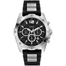 GUESS Duo-Tone Sport Chronograph Mens Watch U0167G1