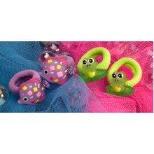 Fish & Frog Hair Bobbles - Wild Republic Fish & Frog Hair Bobblesx 4 Childrens Animal Hair Accessory