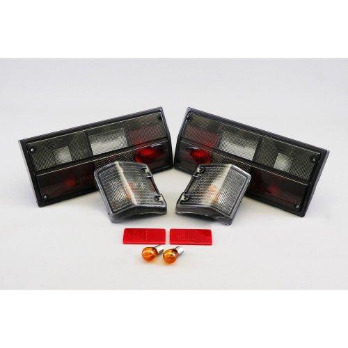 Rear lights set black front indicators bundle VW Transporter T3 T25 79-92