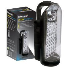 Infapower Wall Mountable 60 Led Emergency Rechargeable Lantern (Run Time 10 hrs)