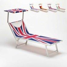 Professional Sun Loungers in Alluminium Garden Beach SANTORINI EUROPE EDITION