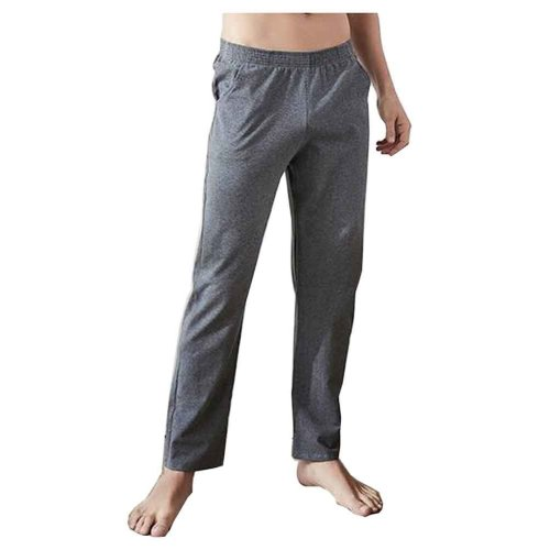 Cotton Men's Sweatpants Men's Pajamas Men's Sweats for Spring Autumn [A]