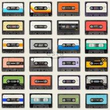 non-woven wallpaper XXL Vintage cassettes