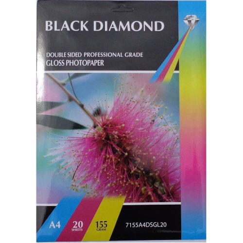 A4 155gsm Black Diamond Double Sided Gloss Photo Paper