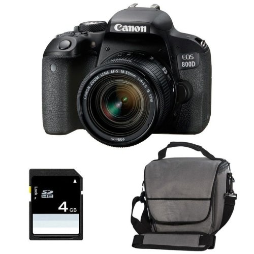 CANON EOS 800D KIT EF-S 18-55mm F4-5.6 IS STM+ Canon Bag + 8GB SD card