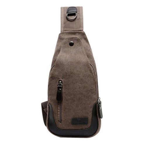 Men Women Retro Canvas Messenger Bag Shoulder Bag Chest Pack