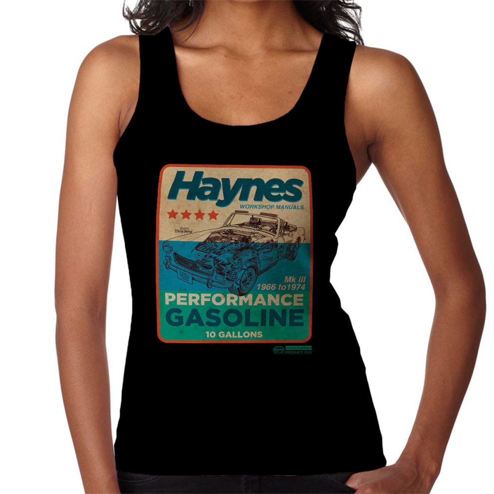 Haynes MG MGB Performance Gasoline Women's Vest