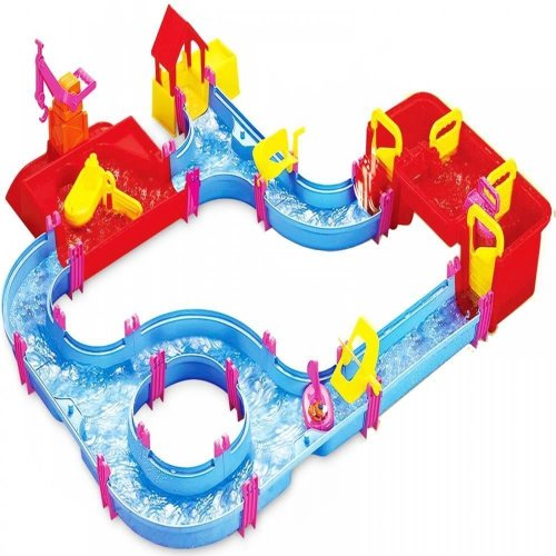 Childrens Kids Toy Jumbo Aqua Play Set Floating Canal Boat Water Port Lock Game