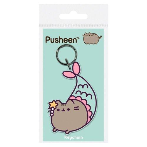 Pusheen Mermaid Rubber Keyring