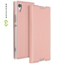 Mayaxess Skin Series Flip case, standing case for Sony Xperia XA1 – Pink