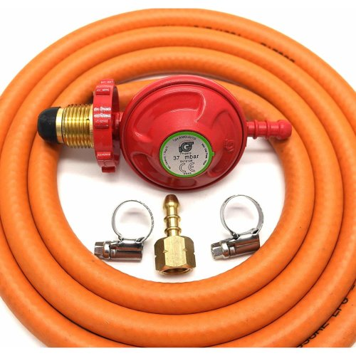 Igt 37Mbar Propane Hand Wheel Gas Regulator Hose Kit For Uk Cadac Lp Models