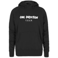 XL Black Ladies One Direction Four Hooded Top -