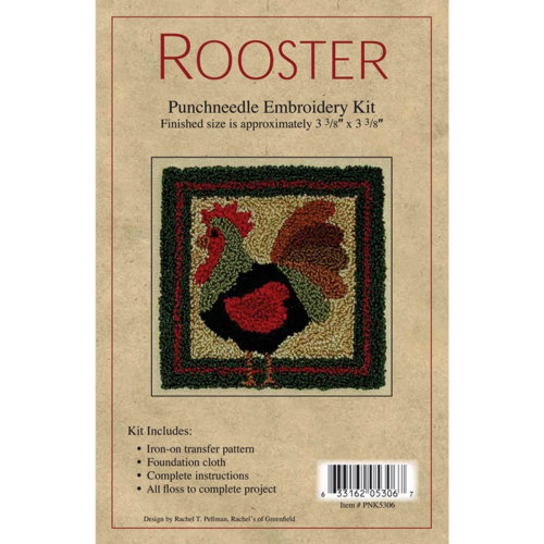"""Rooster Punch Needle Kit-3.375""""X3.375"""""""