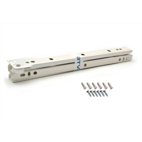 Roller Drawer Slides / Runners Bottom Fix Metal White L:600mm (2pairs)