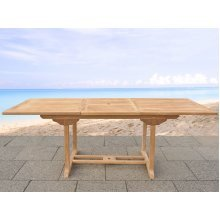 Garden table acacia wood - rectangular table, extendable - JAVA