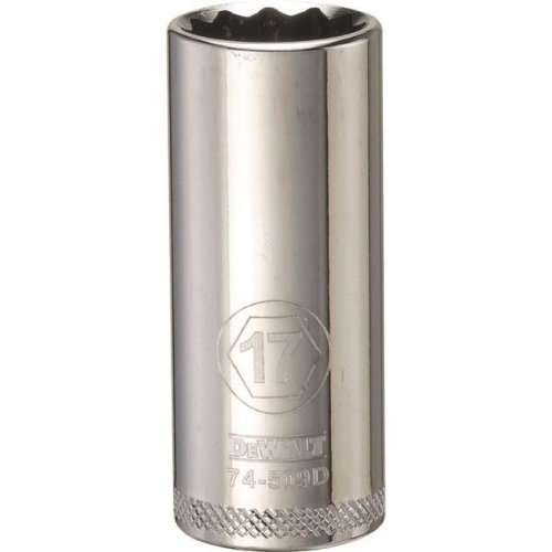 Stanley Tools 227917 17mm Deep Socket - 0.37 in. Drive