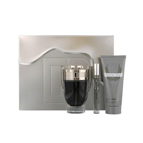Paco Rabanne Invictus Eau de Toilette Men's Aftershave Gift Set (100ml) with Shower Gel & 10ml EDT
