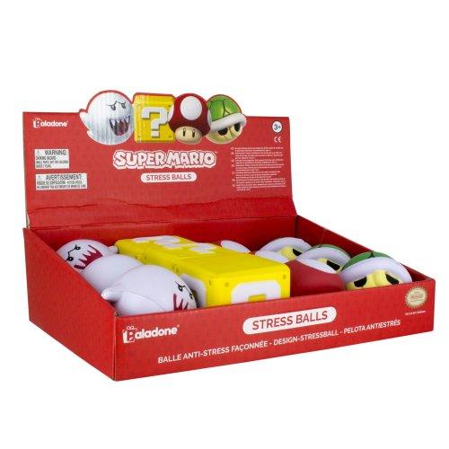 Super Mario Stress Balls CDU Display of 12pcs