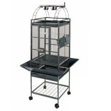 Strong Parrot Cage Villa Helios Silverstone Grey 46x46x149 cm 93016