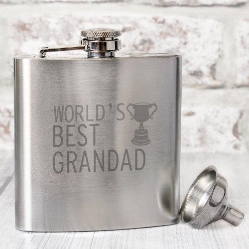 Worlds Best Grandad  Hip Flask