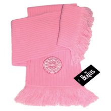 Beatles - Scarf Logo (in One Size) -  beatles scarf sgt peppers lonely hearts club band logo pink 100 official