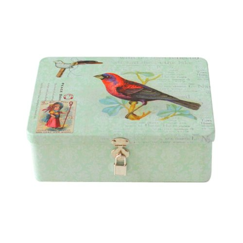 Creative Office Storage Box/Container/Invoice Box/Postcard Boxes with Lock,Birdy