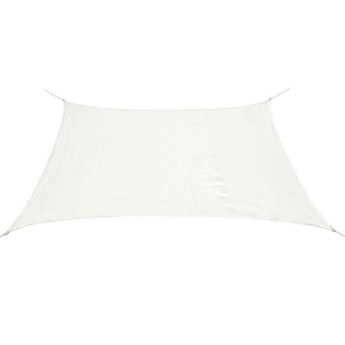 43016 vidaXL Sunshade Sail HDPE Rectangular 2x4 m White